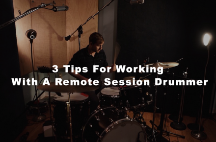 working with a session drummer